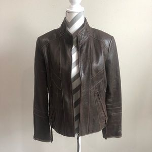 Marc New York. Town Leather Jacket M EUC